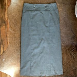 H&M Grey Pencil Skirt